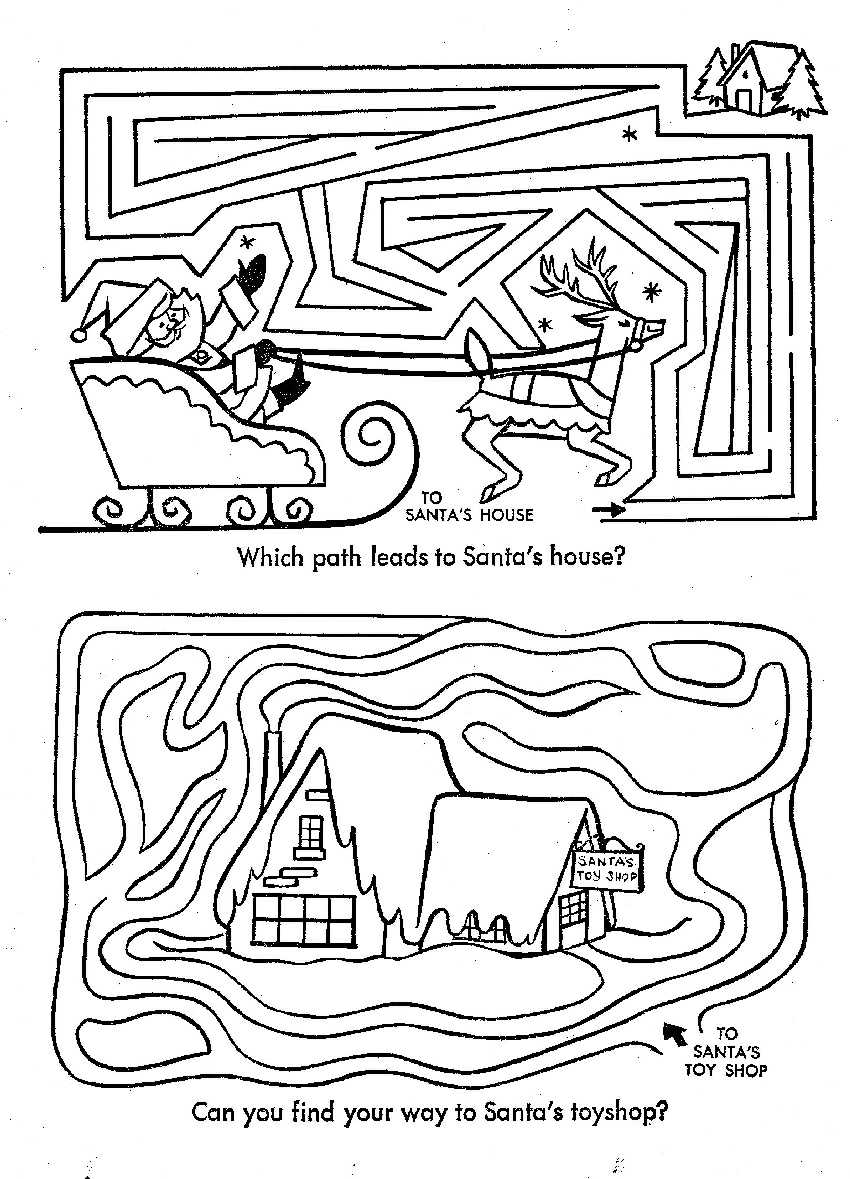 christmas coloring pages and mazes - photo#15