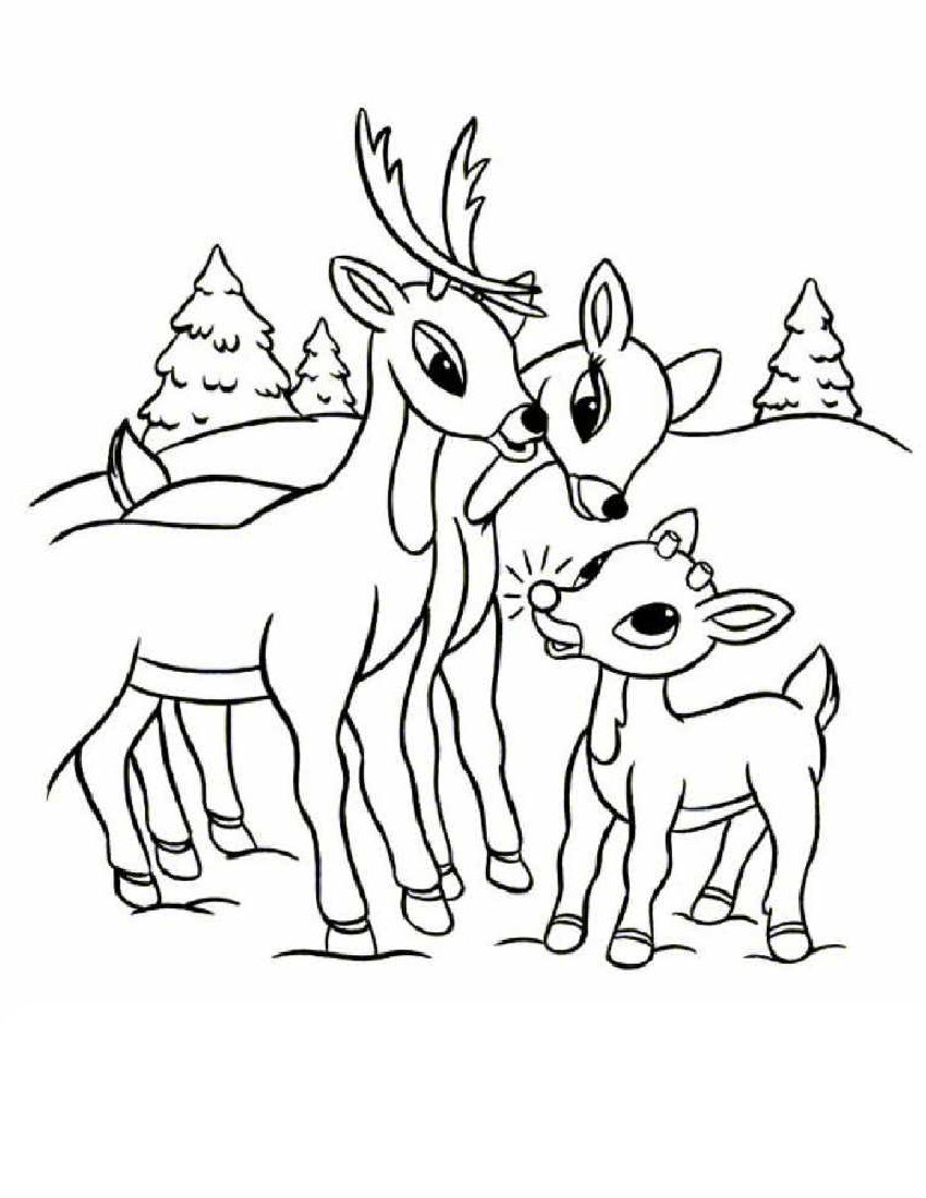 Rudolph the red nosed reindeer coloring pages for Christmas coloring pages rudolph