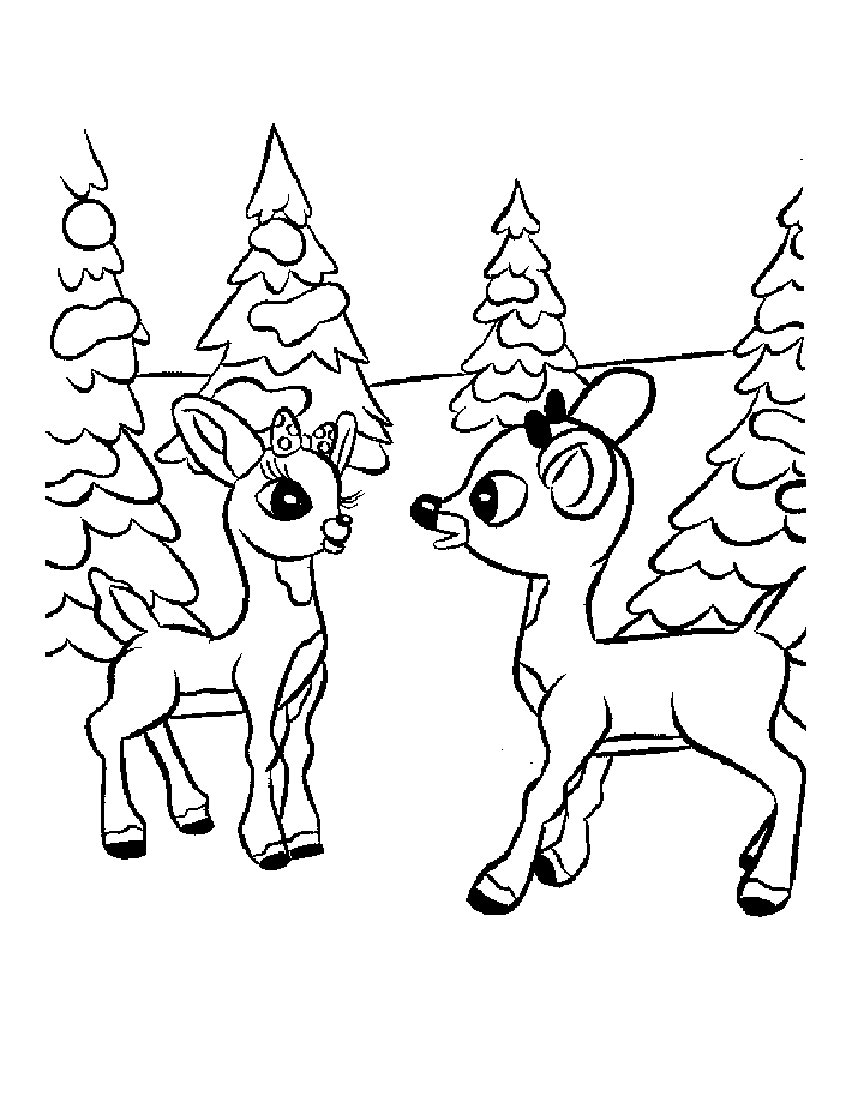 Christmas rudolph red nosed reindeer coloring pages for Rudolph the red nosed reindeer template