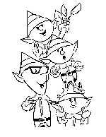 Santa's Elves Coloring Page