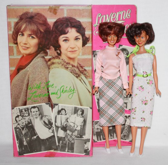Laverne and Shirley Dolls – Vintage TV Penny Marshall and Cindy Williams