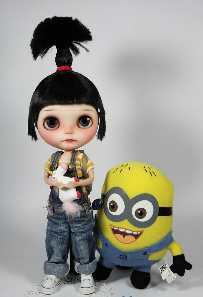 Agnes from Despicable Me Blythe Doll by Freddy Tan