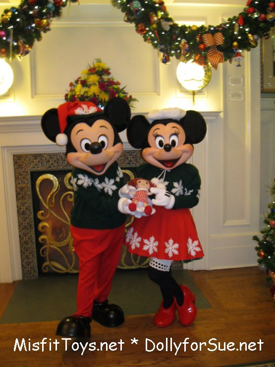 Mickey and Minnie Mouse with Dolly for Sue