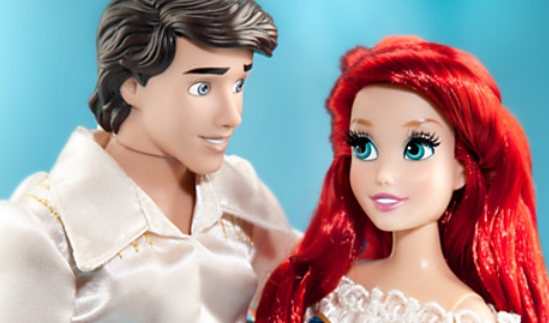 Fairytale Couples Ariel and Eric Doll Set