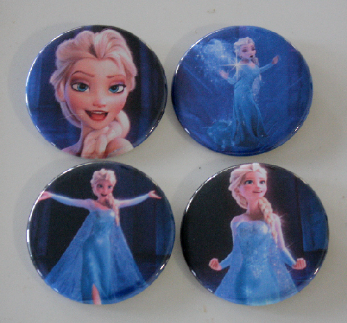 Frozen Elsa Let It Go Pin Button Set