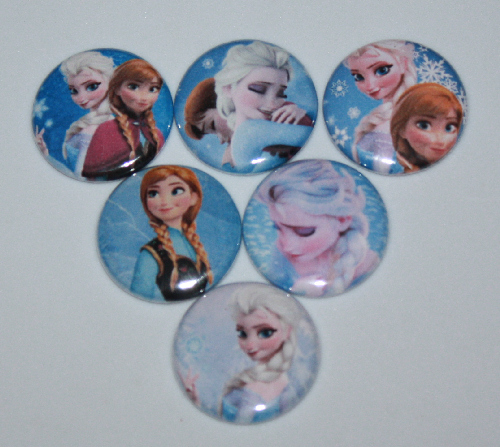 Frozen Elsa and Ann Scrapbook Buttons