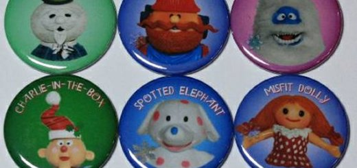 Rudolph the Red-Nosed Reindeer and Island of Misfit Toys Pins and Magnets
