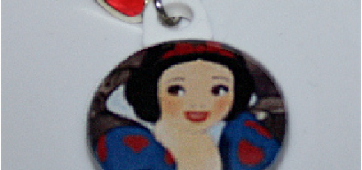 Snow White Charm with Heart