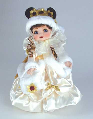 Adora Belle Disney Victorian Holiday Minnie Porcelain Marie Osmond Doll