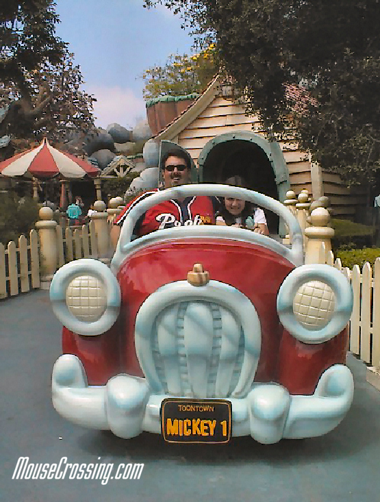 Gary Cacolice and daughter at Mickey's Toontown at Disneyland 2001