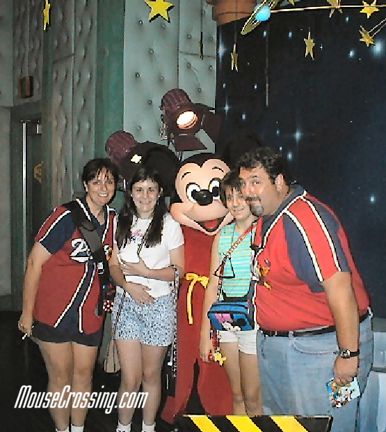 Gary Cacolice and family with Mickey Mouse at Mickey's Toontown Disneyland