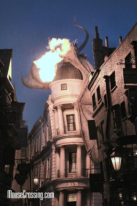 Neville Dragon atop Gringotts Bank at Diagon Alley Universal Studios Orlando Florida