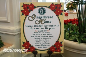 Recipe for the Gingerbread House at Disney's Grand Floridian Hotel