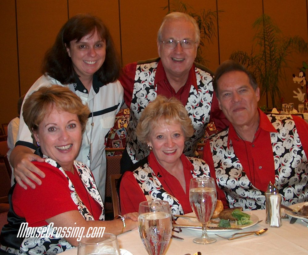 Cheri Gardner dines with the Mickey Mouse Club Mouseketeers Tommy, Sherri, Sharon and Bobby