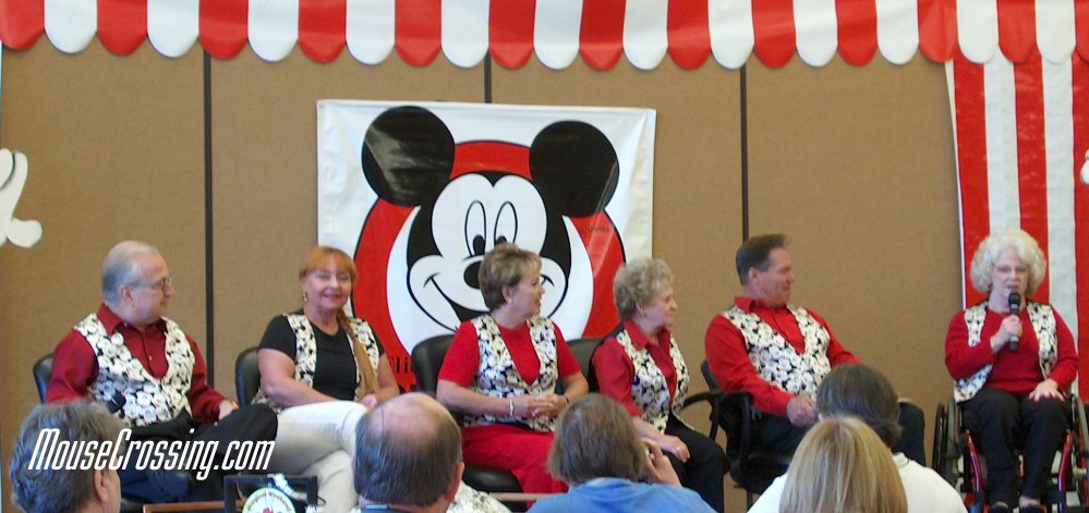 Tommy Cole, Doreen Tracey, Sherri Alberoni, Sharon Baird, Bobby Burgess and Karen Pendleton at Mouseketeers Reunion 2004