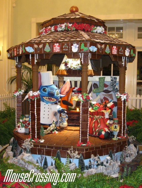 Chef Stitch in Chocolate Carousel at Disney's Boardwalk December 2011
