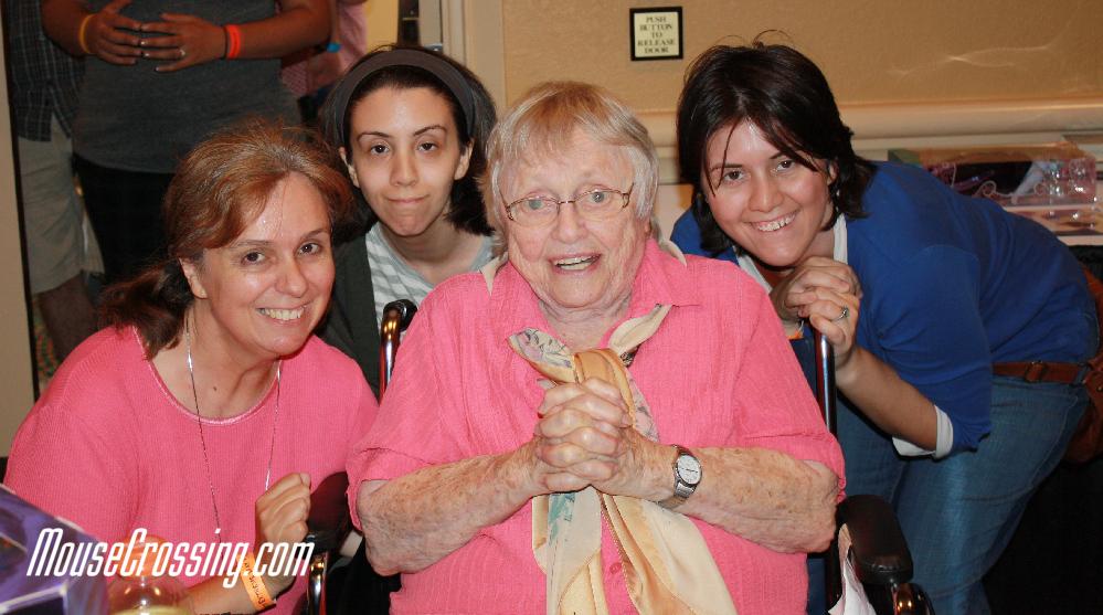 Pat Carroll aka Ursula with Amber, Katy and me