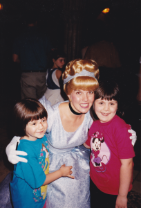 Amber and Katy with Cinderella 1994