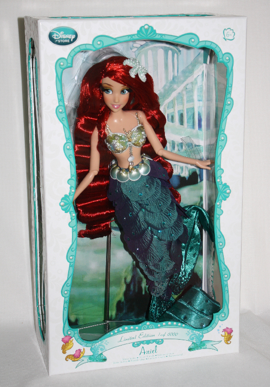 ARIEL THE LITTLE MERMAID DOLL Limited Edition LE 6000 Disney + Ship Box