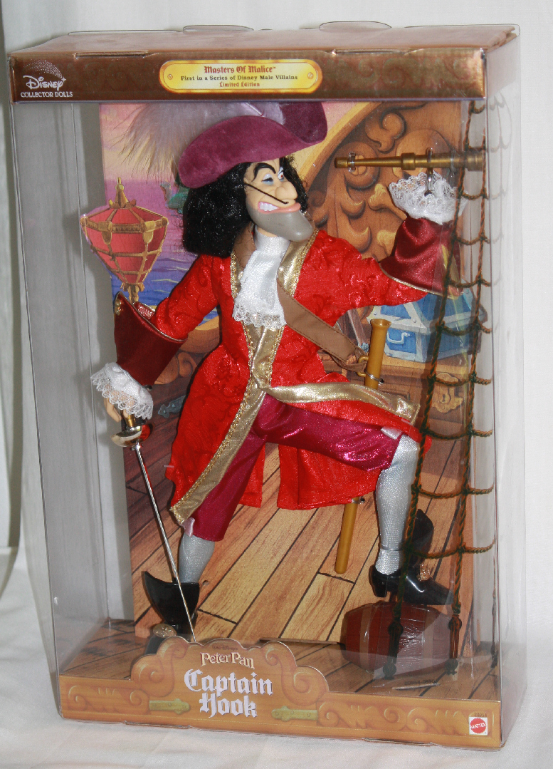 Disney Villains Captain Hook from Peter Pan Doll