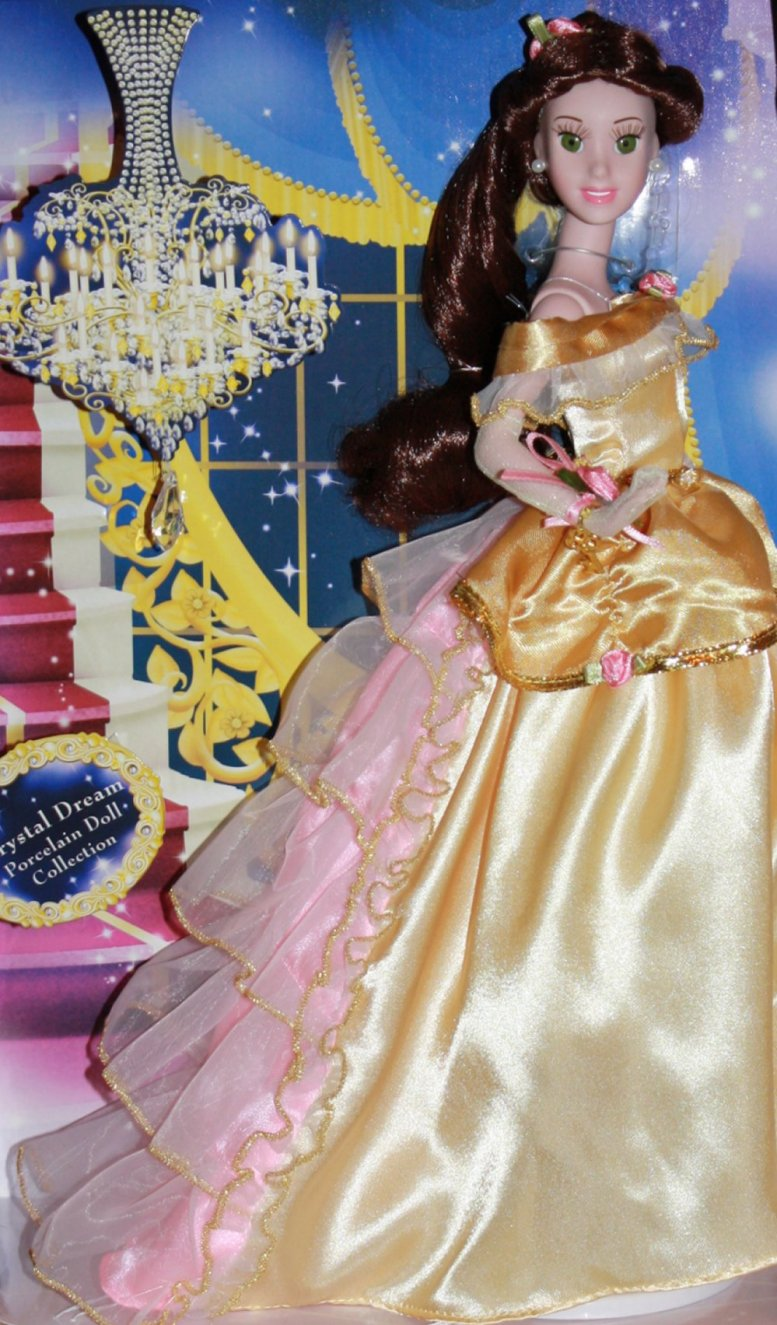 Crystal Dreams Belle Disney Princess Doll by Brass Key