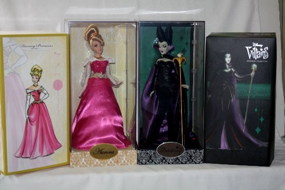 Designer Disney Princess Aurora and Designer Disney Villains Maleficent