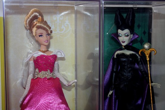 Aurora Designer Disney Princess and Maleficent Designer Disney Villains Dolls