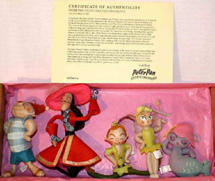Mary Blair Peter Pan Christmas Ornaments Jody Dailey