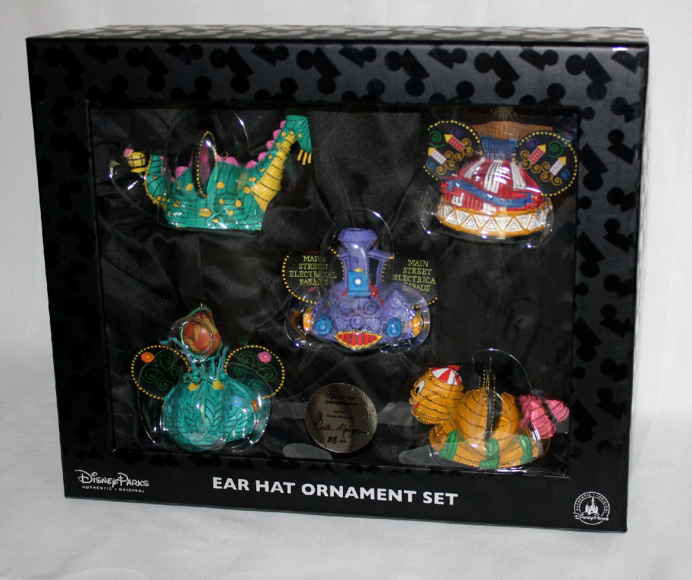 Electrical Parade Ear Hat Ornament Set Disney Limited Edition of 600