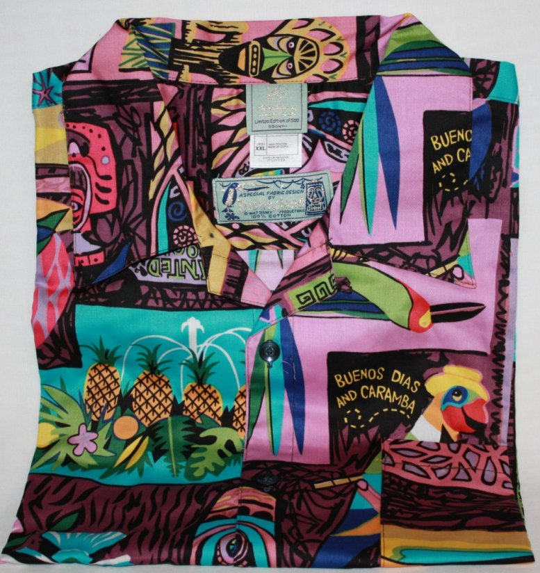 Kevin Kidney Tiki Shirt Men Shirt Purple XXL New Mint in Package