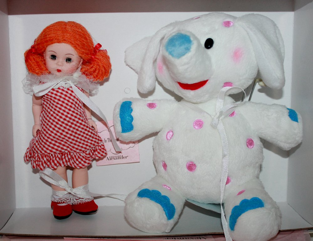 Madame Alexander Misfit Doll and Spotted Elephant Doll