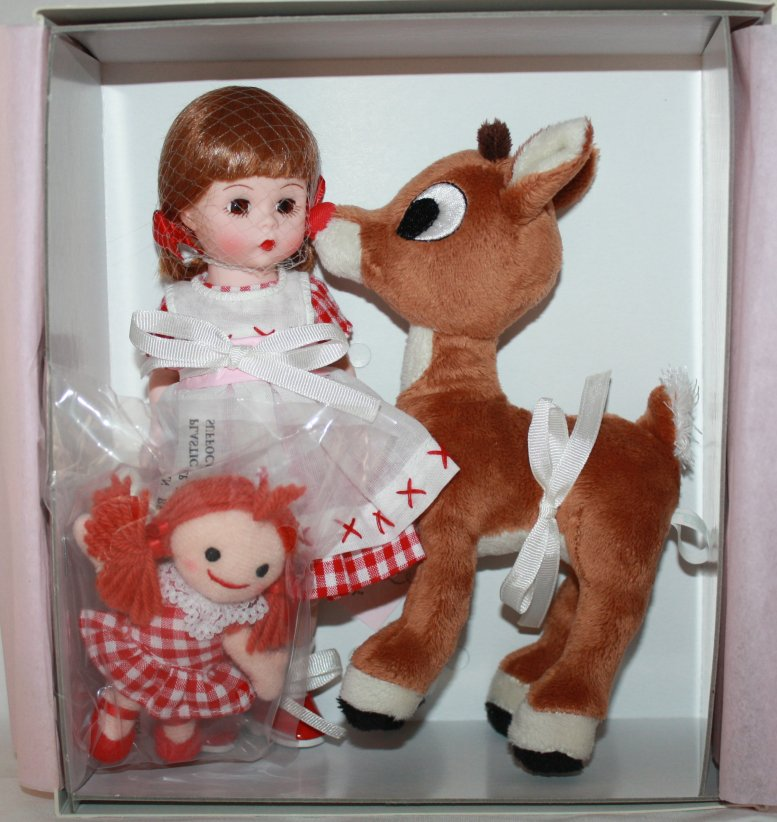 Misfit Doll with Rudolph Red-Nosed Reindeer Dolls