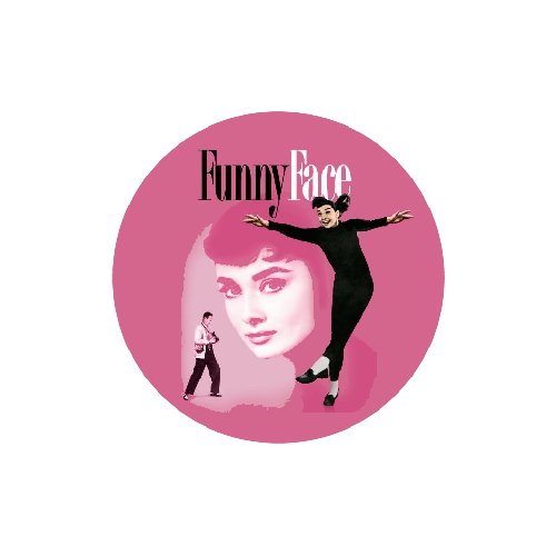 FUNNY FACE MAGNET Audrey Hepburn Fred Astaire Vintage Movie Poster Pop Art