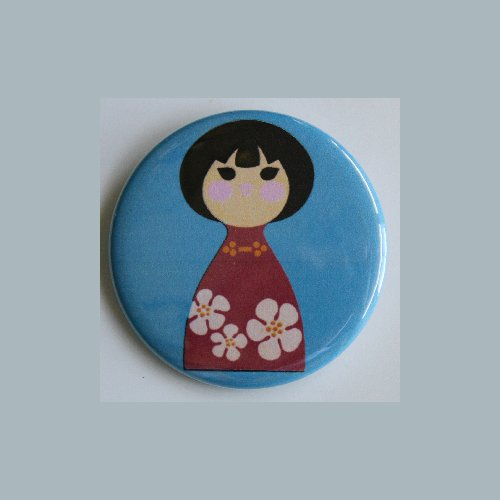 AVON SMALL WORLD JAPAN GIRL MAGNET Vintage Art Disney Mary Blair