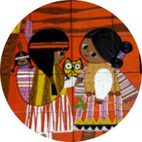 COUPLE WITH OWL MARY BLAIR ART MAGNET Walt Disney Contemporary Hotel