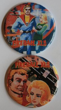 Fireball XL5 Lunchbox Magnet Set