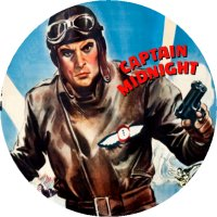 CAPTAIN MIDNIGHT MAGNET Vintage Movie Poster Art Classic Super Hero Serial