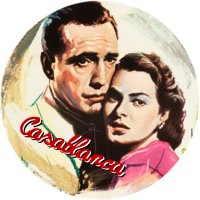CASABLANCA MAGNET Vintage Movie Poster Art Humphrey Bogart Ingrid Bergman