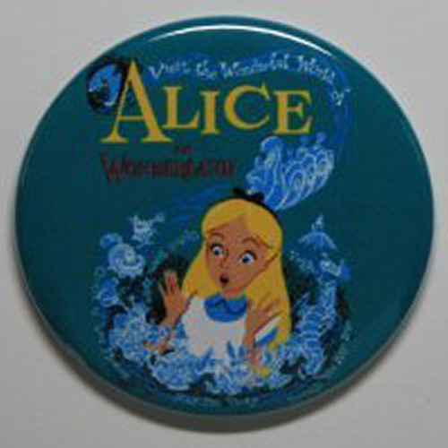 ALICE IN WONDERLAND MAGNET Disneyland Disney Poster Vintage Art Fantasyland