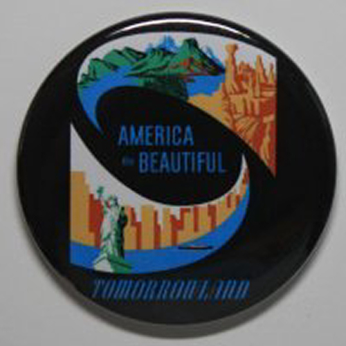 AMERICA THE BEAUTIFUL MAGNET Disneyland Disney Poster Vintage Attraction Art