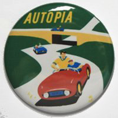 AUTOPIA MAGNET Disneyland Disney Poster Vintage Attraction Cars Speedway Car Art
