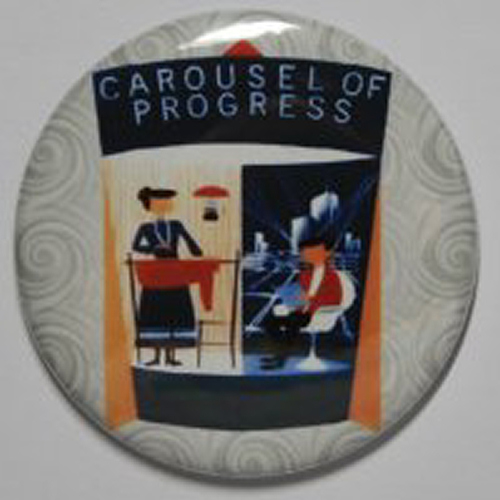 CAROUSEL OF PROGRESS MAGNET Disneyland Disney Poster Vintage Attraction Art