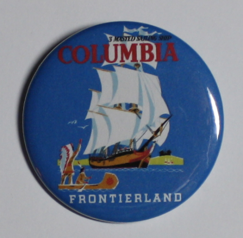 COLUMBIA SHIP MAGNET Disneyland Disney Poster Vintage Art Frontierland