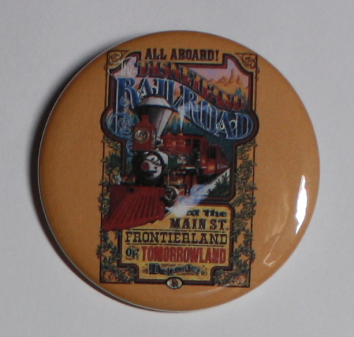 DISNEYLAND RAILROAD MAGNET Disneyland Disney Poster Vintage Art Attraction