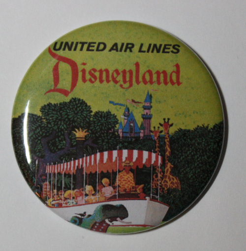 DISNEYLAND UNITED AIRLINES MAGNET Disney Travel Poster Vintage Art