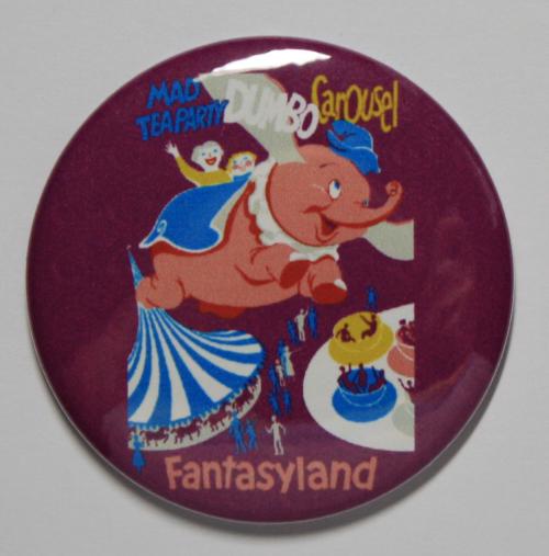 DUMBO RIDE MAGNET Disneyland Disney Poster Vintage Art Fantasyland