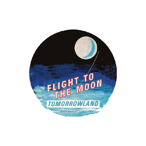 FLIGHT TO THE MOON MAGNET Disneyland Disney Poster Vintage Attraction Space Art