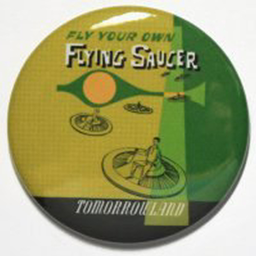 FLYING SAUCERS MAGNET Disneyland Attraction Ride Art