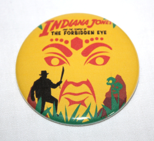 INDIANA JONES TEMPLE FORBIDDEN EYE MAGNET Disneyland Disney Poster Vintage Art