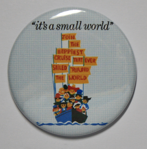 IT'S A SMALL WORLD MAGNET Disneyland Disney Poster Vintage Art Fantasyland Ride